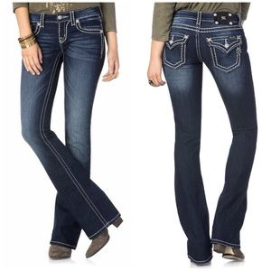 Miss Me Saddle Stitched Bootcut Jeans JP5014